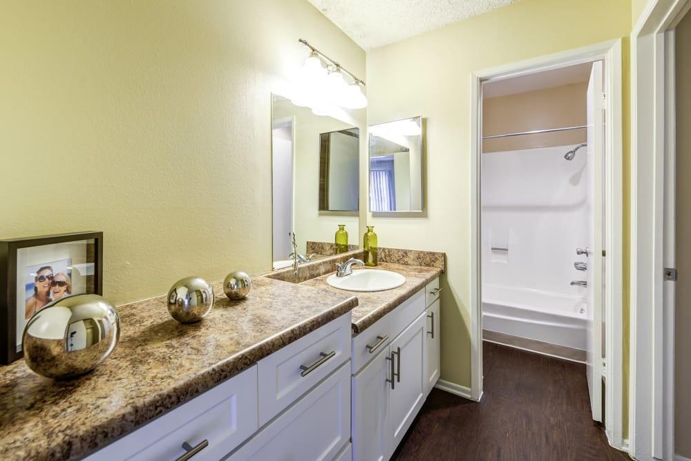 Model bathroom at Olive Ridge in Pomona, California