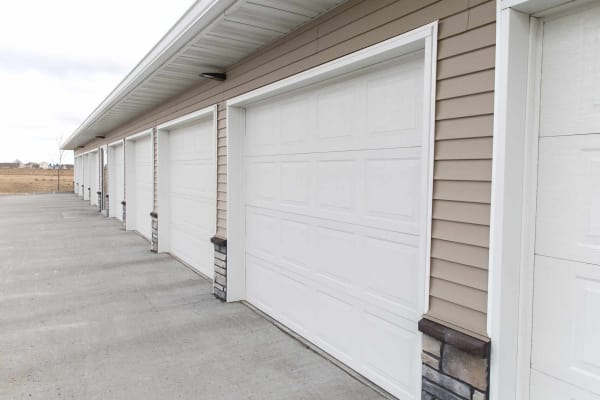 Resident garages at Ironwood, a Haverkamp Properties in Ames, Iowa community
