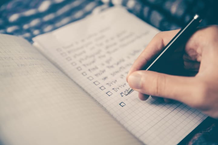 making a to-do list each day