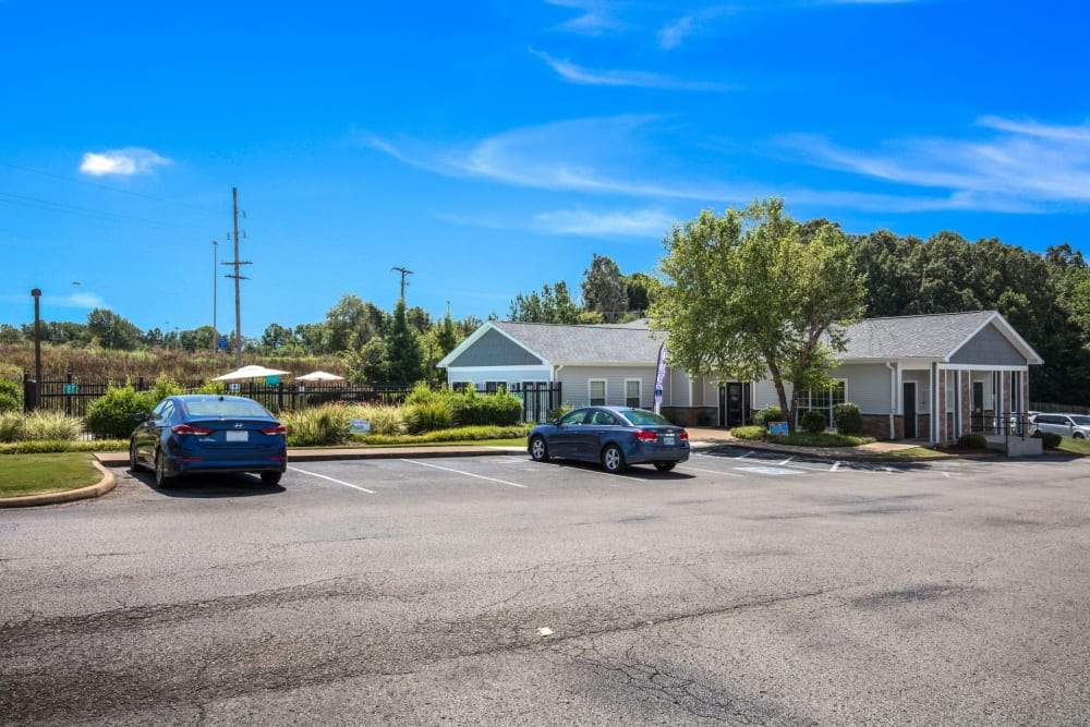 Ample parking at Park Place in Jackson, Tennessee