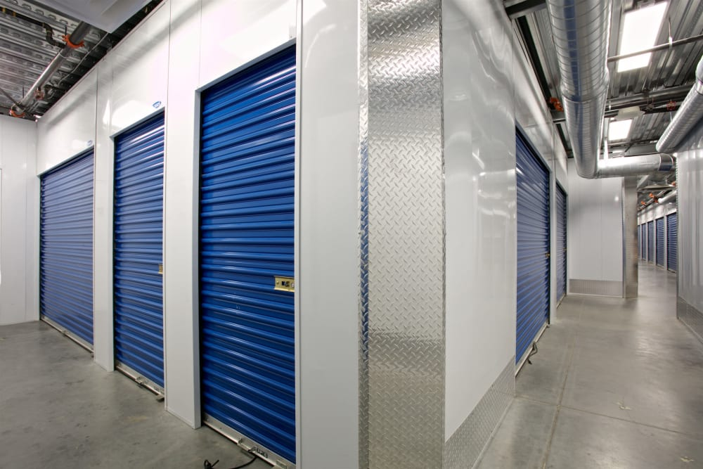 Indoor storage units at Pacific Highway Storage in San Diego, California