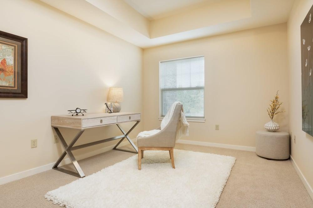 Office in senior living apartment at The Springs at Tanasbourne in Hillsboro, Oregon