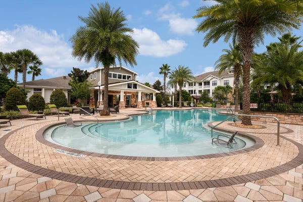 Pool patio at Terraces at Town Center in Jacksonville, Florida