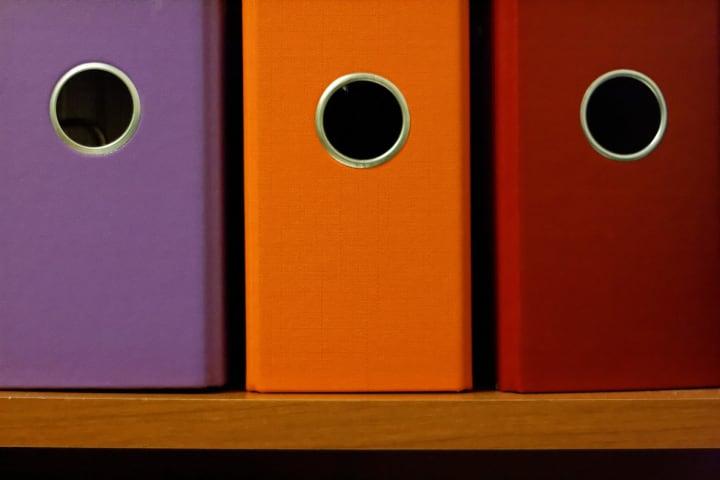 coloured binders