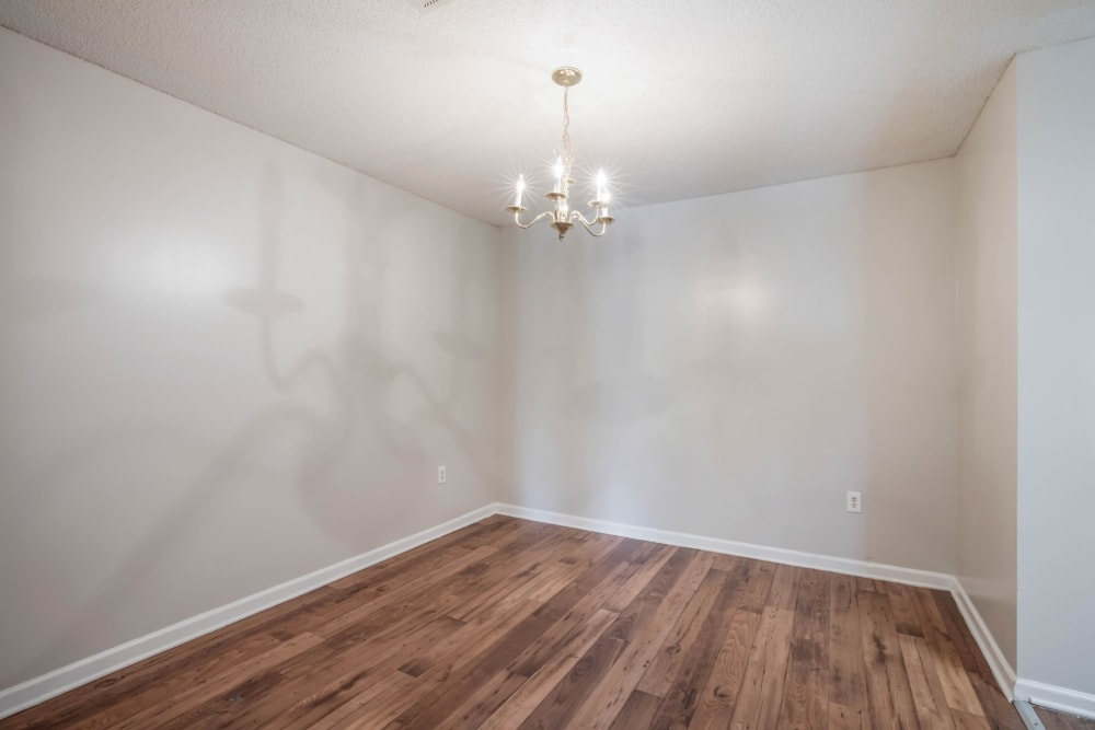 Hardwood flooring at Park Place in Jackson, Tennessee