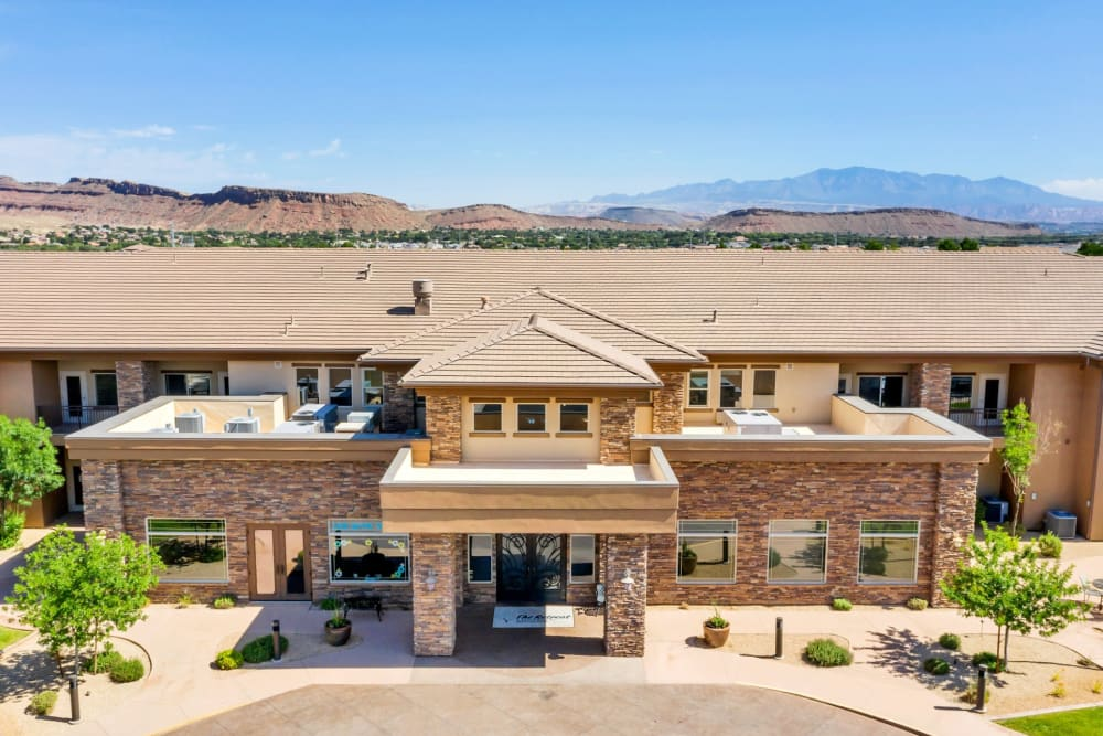 Aerial View of Front Entrance at The Retreat at Sunriver