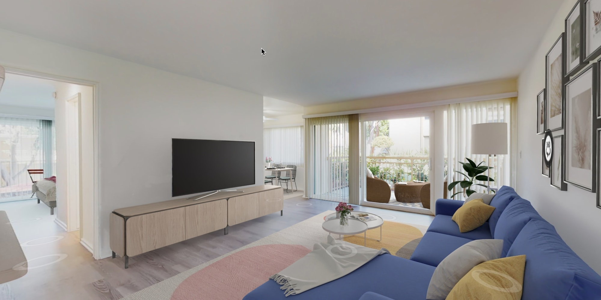 View a virtual tour of our 2 bedroom homes at West Park Village in Los Angeles, California