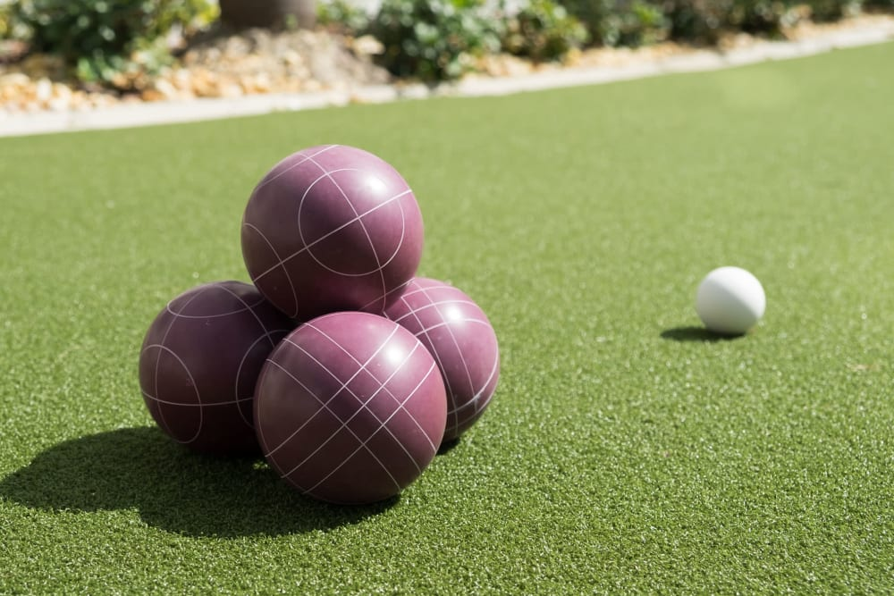 Bocce balls at Grand Villa of Fort Myers in Florida
