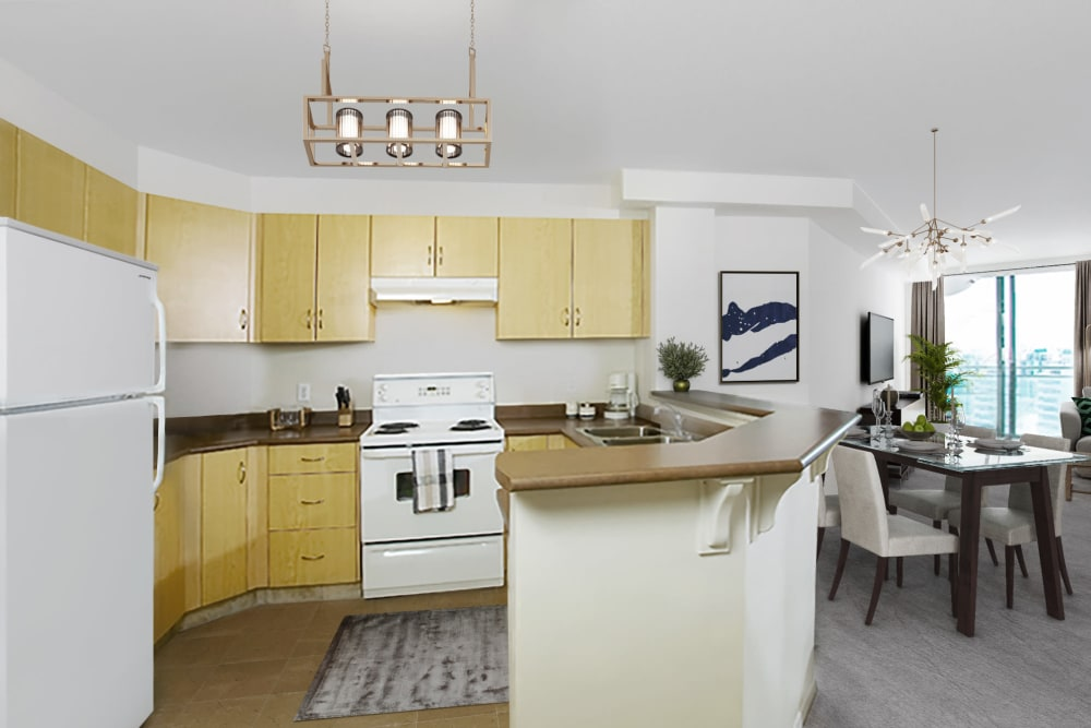 Discovery Pointe offers a renovated kitchen in Calgary, Alberta