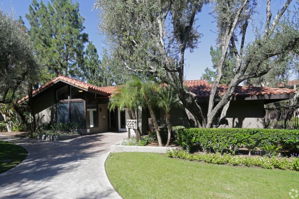 Exterior of leasing office at Olive Ridge in Pomona, California