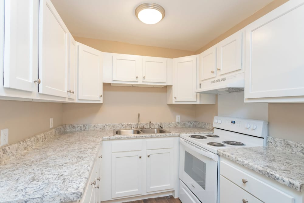 New granite countertops at Maple Creek Apartments in Nashville, Tennessee