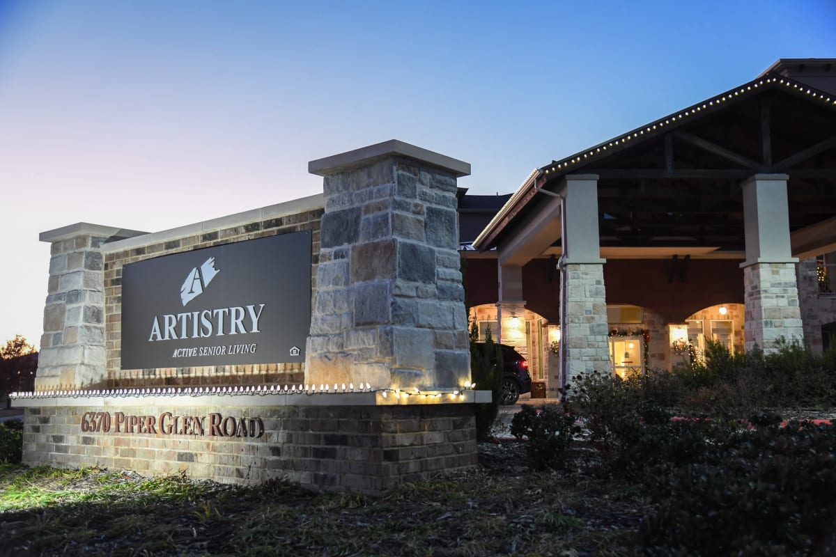 Main entrance to Artistry at Craig Ranch in McKinney, Texas