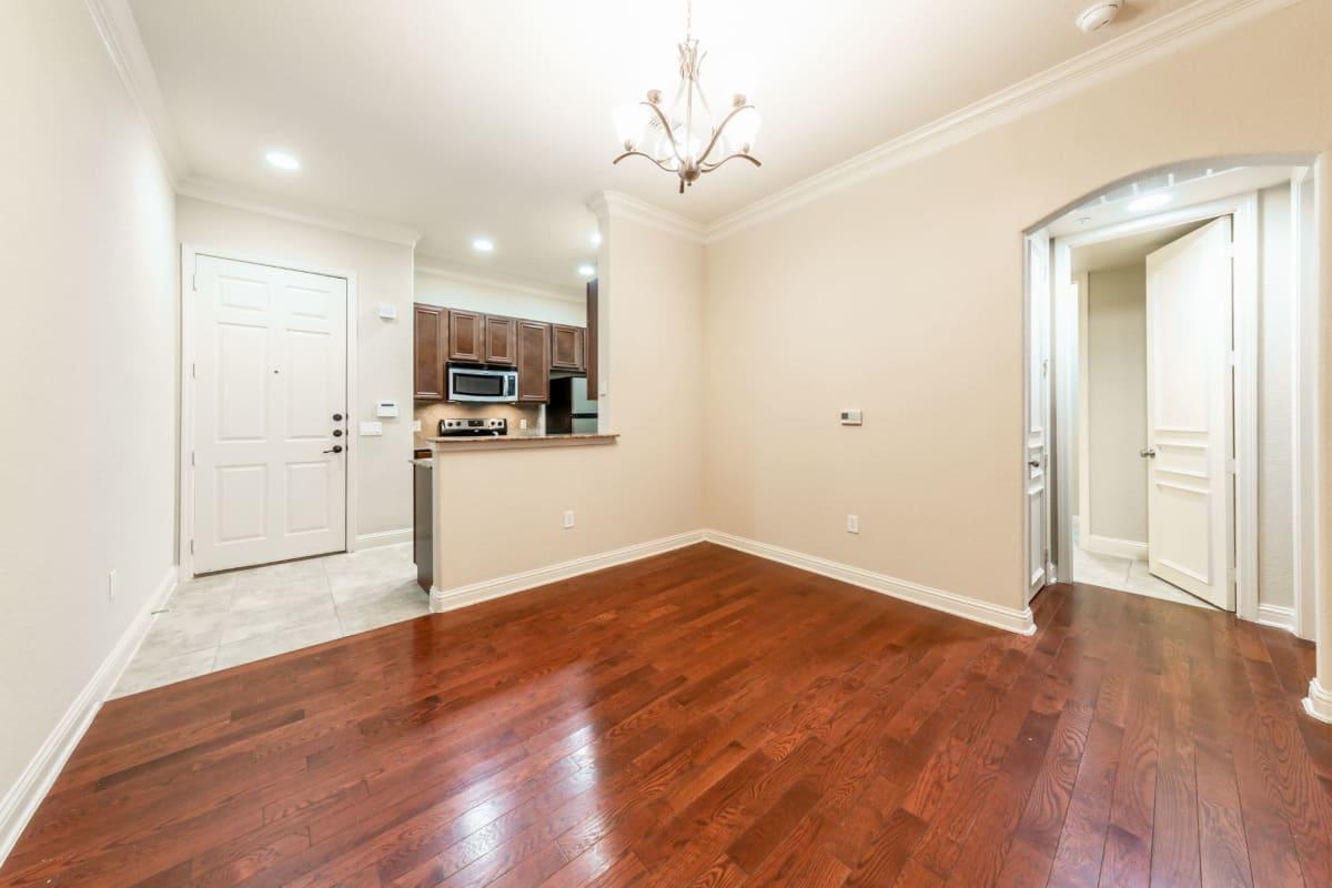 Bedroom with double doors at Marquis at TPC in San Antonio, Texas