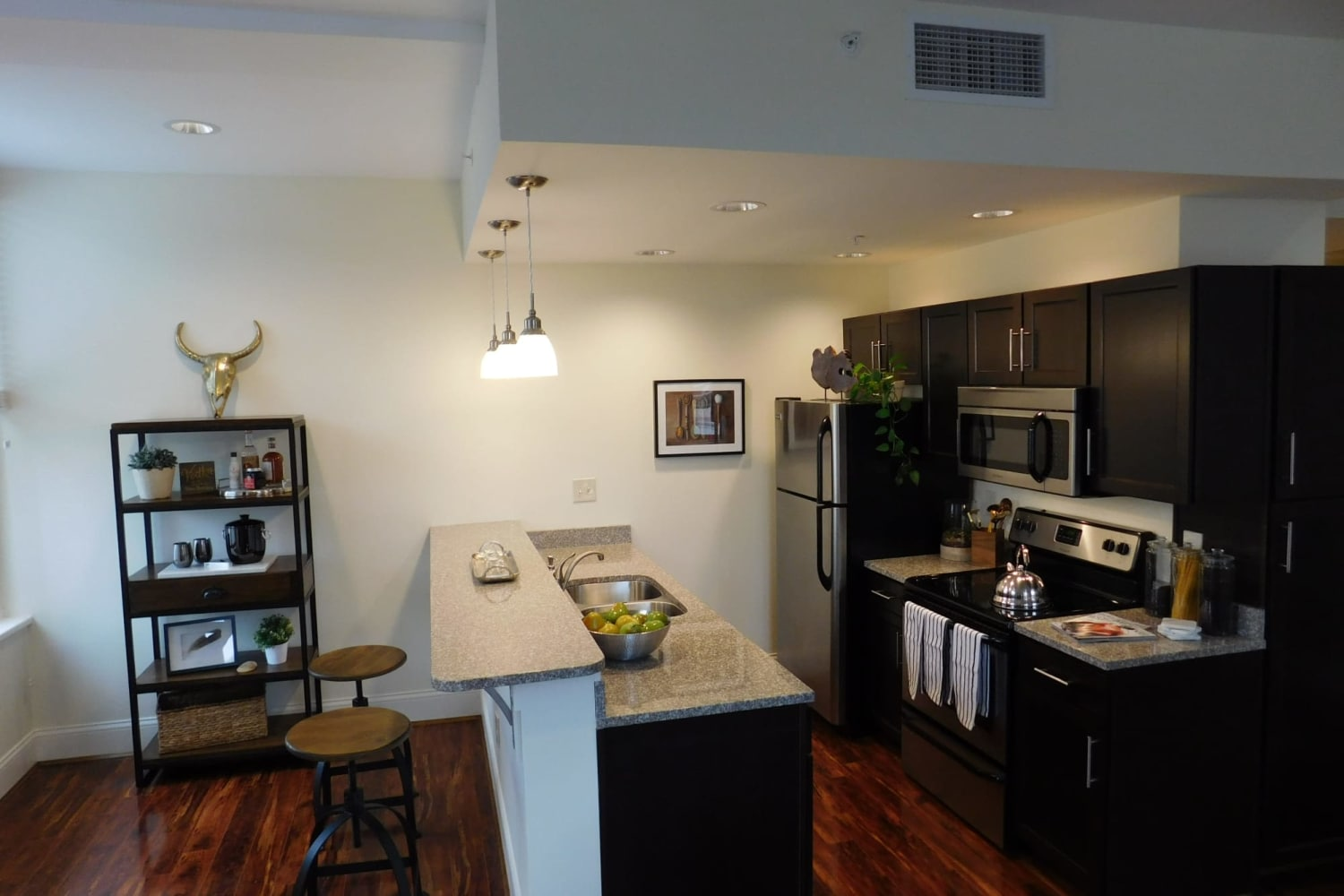 The Reserve at 4th and Race alternate kitchen design