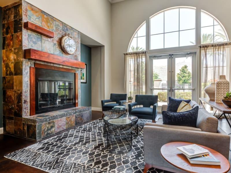 Gorgeous fireplace at Vista Imperio Apartments