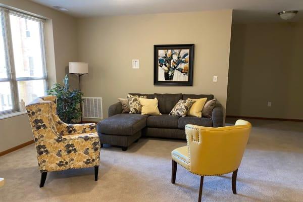 Senior assisted living apartment at Aurora on France in Edina, Minnesota