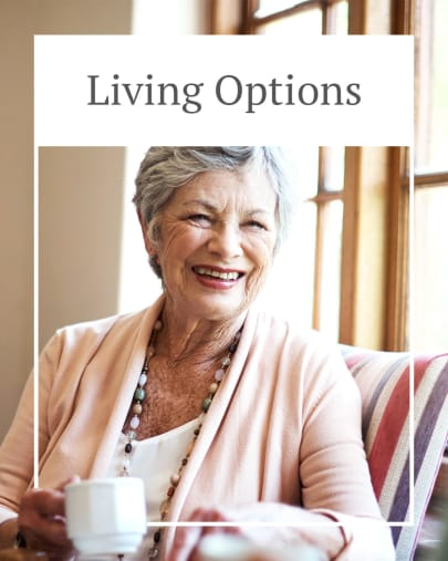 Living options at Autumn Grove Cottage at Stone Oak in San Antonio, Texas