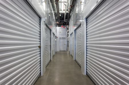 Row of our indoor climate controlled storage units at StorQuest Self Storage in Reno, Nevada.
