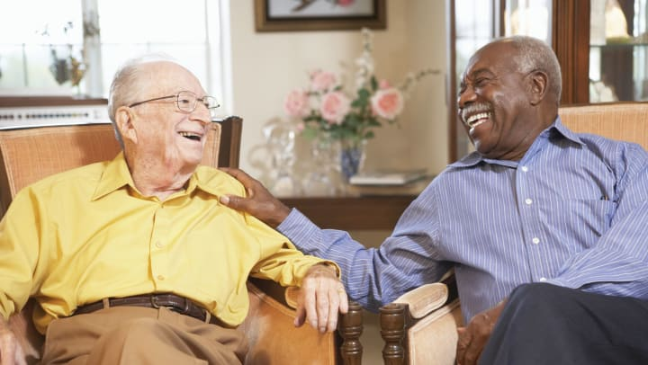 Two friends at Meridian Senior Living
