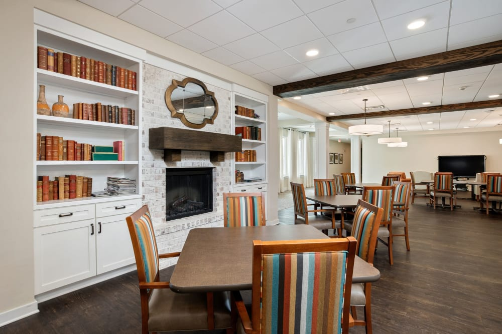 Library at The Claiborne at Gulfport Highlands in Gulfport, Mississippi.