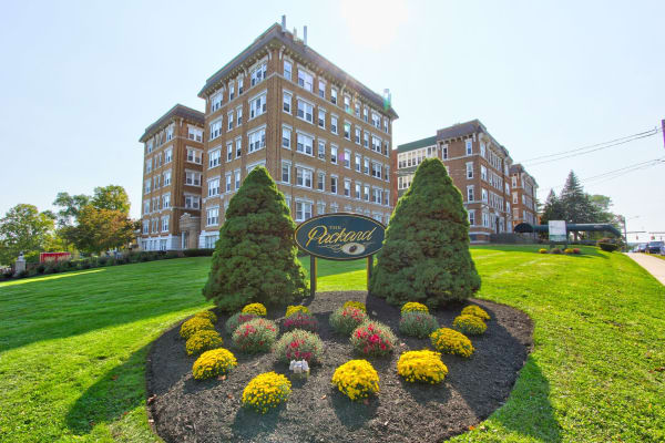 Residents enjoy the green grass at The Packard