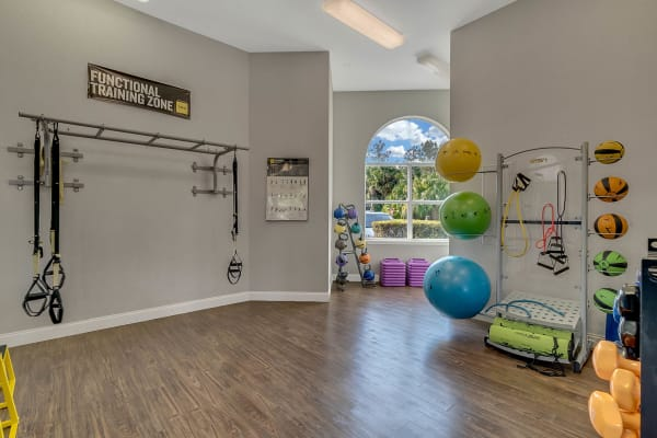 Fitness equipment at Ansley Commons Apartment Homes in Ladson, South Carolina