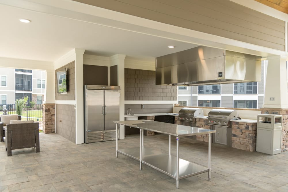 Outdoor kitchen at Silver Collection at Celebrate