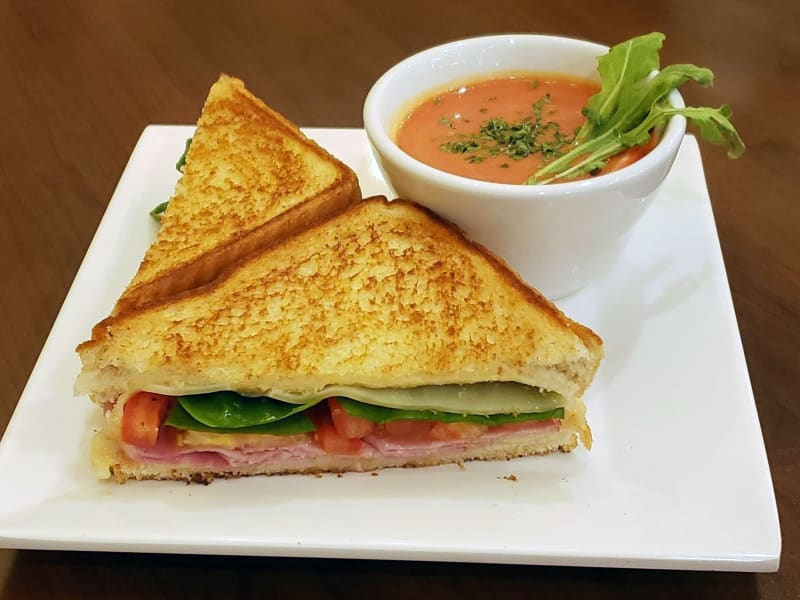 Grilled Ham and Swiss at The Pointe at Summit Hills in Bakersfield, California