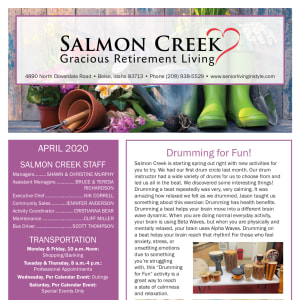 April Salmon Creek Newsletter