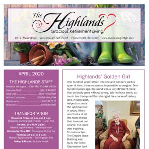 April The Highlands Gracious Retirement Living Newsletter