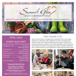April Summit Glen Newsletter