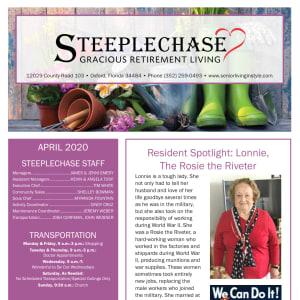April Steeplechase Retirement Residence Newsletter
