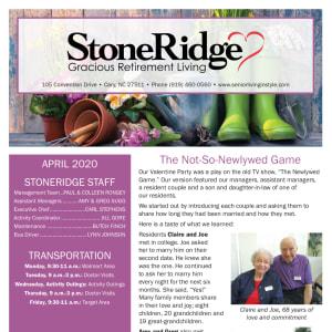 April Stoneridge Gracious Retirement Living Newsletter
