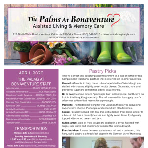April The Palms at Bonaventure Assisted Living and Memory Care Newsletter