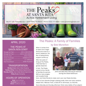 April The Peaks at Santa Rita Newsletter