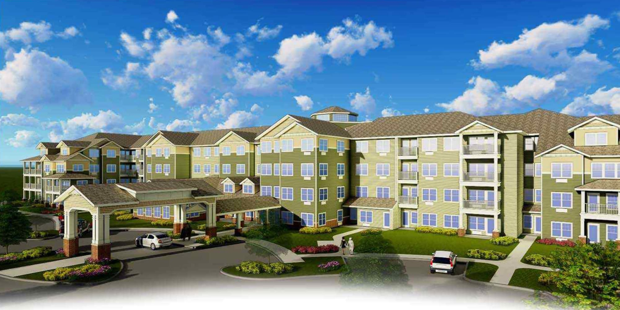 Rendering for Camellia Gardens Gracious Retirement Living in Maynard, Massachusetts
