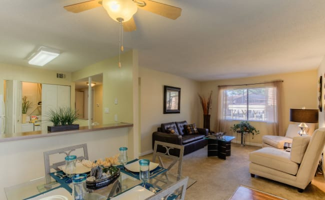 Open-concept layout at Enclave at North Point Apartment Homes in Winston Salem, North Carolina