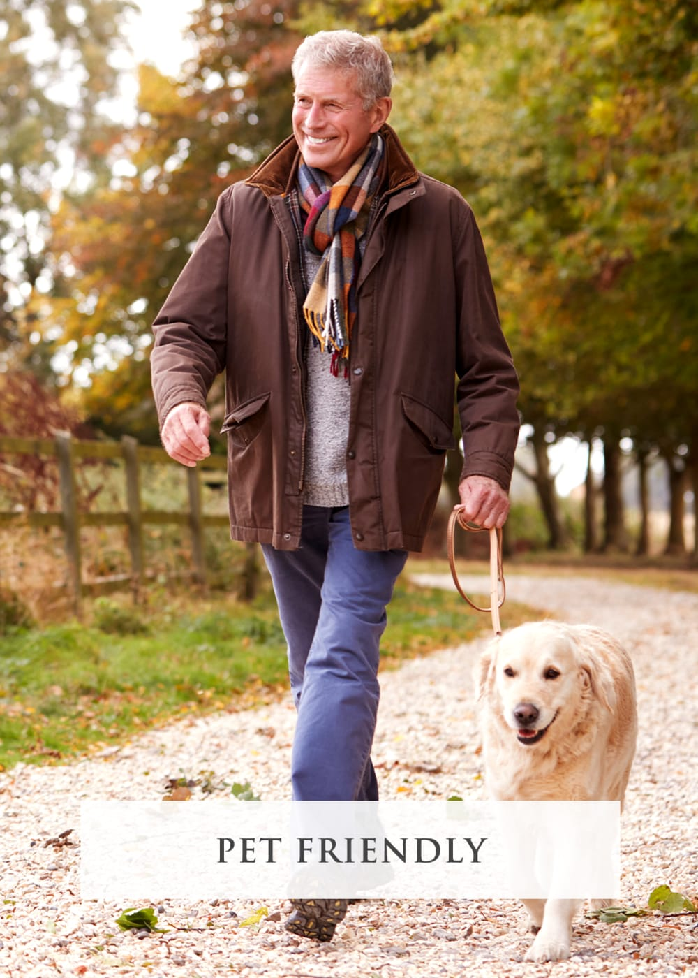 Resident walking dog at Artistry at Craig Ranch in McKinney, Texas
