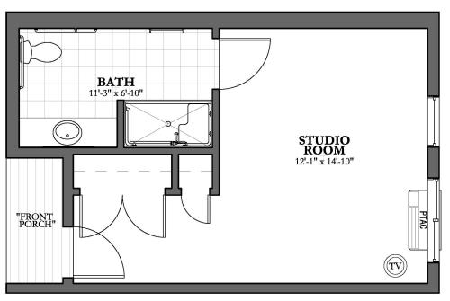 Studio Memory Care Floor Plan