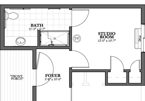 Dual Private 1 bath Memory Care Floor Plan