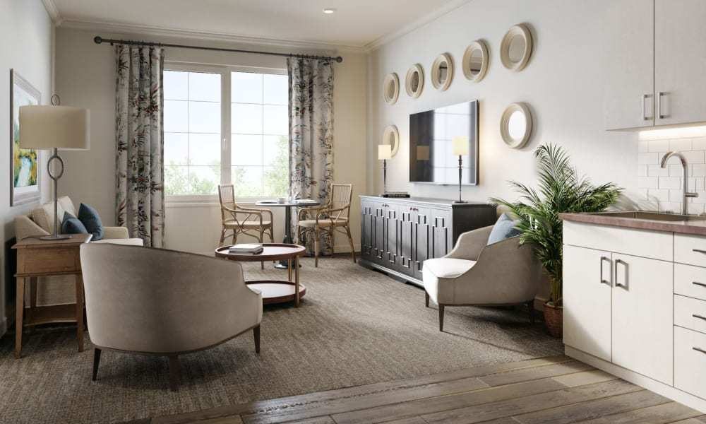 A spacious apartment bedroom at Magnolia Court in Vacaville, California