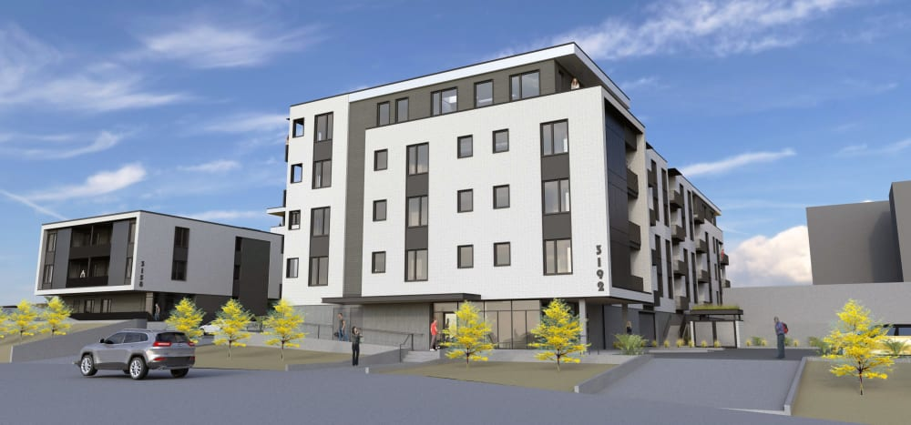 Rendering of Marquam Heights with parking in Portland, Oregon
