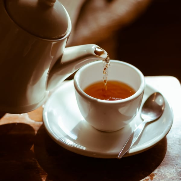 A cup of tea at Chesapeake Place Senior Living in Chesapeake, Virginia.
