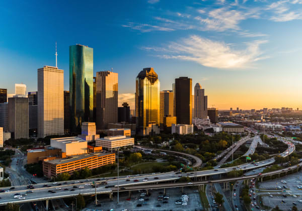 View of Houston, Texas from Marq 31