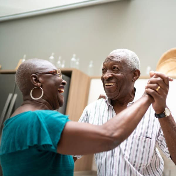 Residents dancing at The Crest at Citrus Heights in Citrus Heights, California.