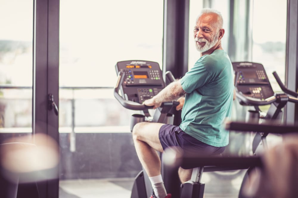 A resident working out at The Vista in Esquimalt, British Columbia.