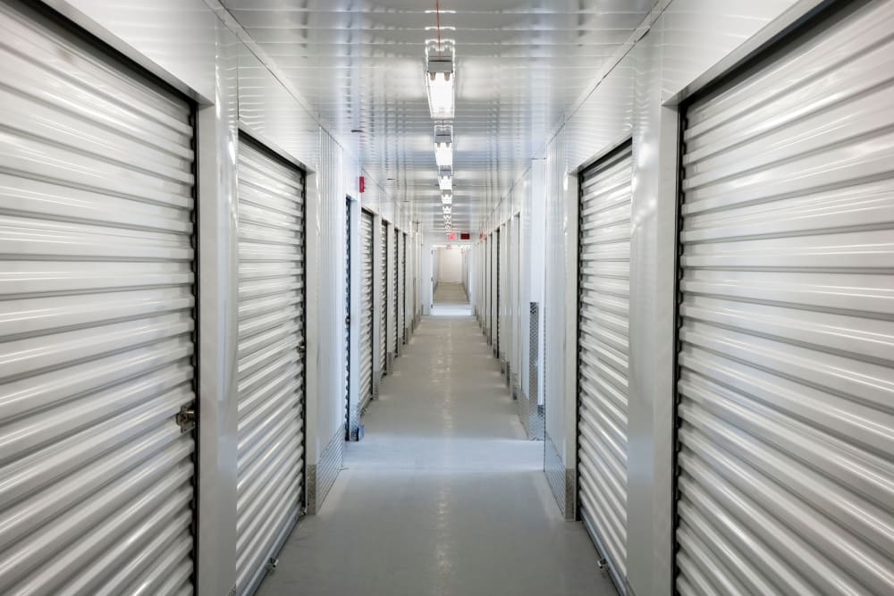 Climate-controlled indoor storage units at A-American Self Storage in Los Angeles, California