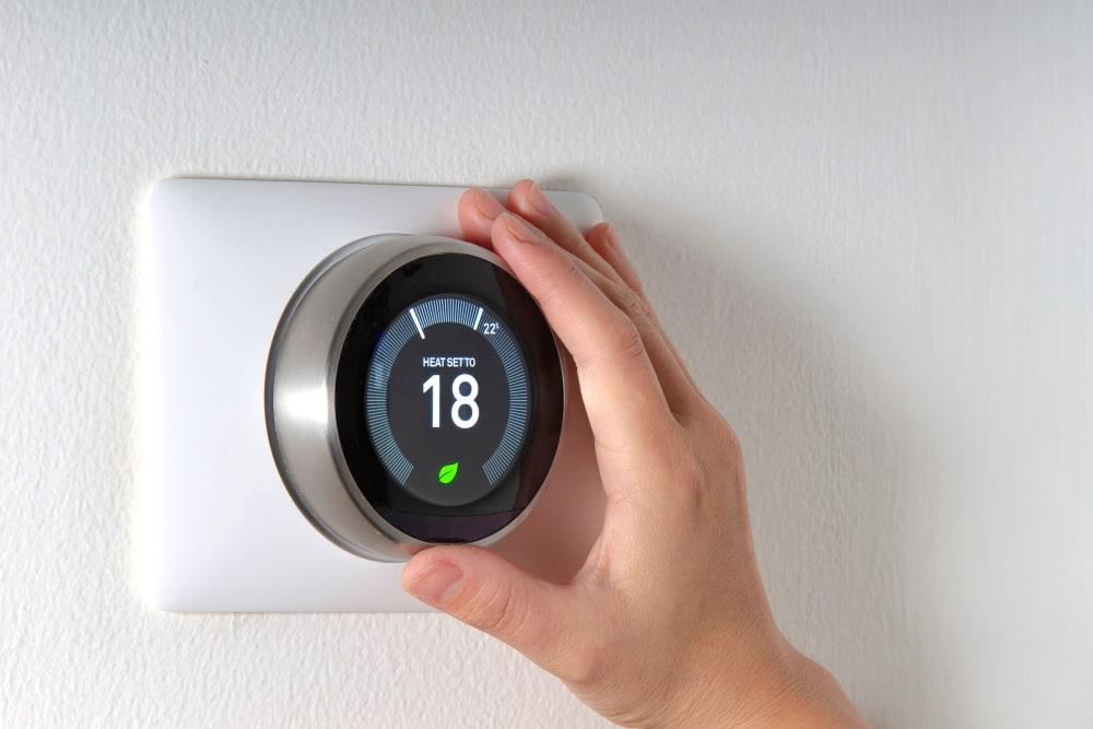 A thermostat at Storage Star Cheyenne in Cheyenne, Wyoming