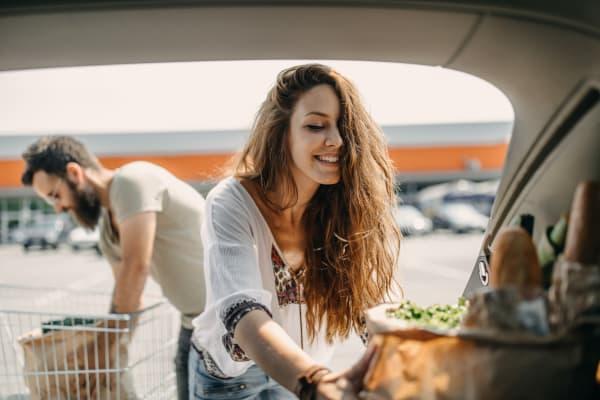Residents shopping near Savannah Place Apartments & Townhomes in Boca Raton, Florida