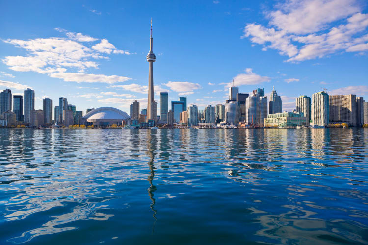 View of Toronto Canada from the water